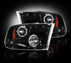RECON 264270BK SMOKED Projector Headlights (10-14 RAM)