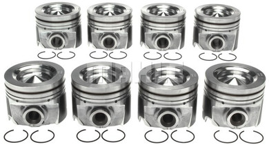 MAHLE 6.7L Pistons w/ Rings, Oversize 0.50MM (11-13 POWERSTROKE) (SET OF 8)