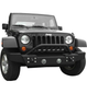 ACE ENGINEERING MID WIDTH BUMPER W/BULL BAR AND FOG LIGHT PROVISION FRONT BLACK - JK
