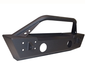 ACE ENGINEERING STUBBY FRONT BUMPER W/BULL BAR AND FOG LIGHT PROVISION BLACK - JK