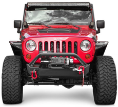 ACE ENGINEERING PRO SERIES FRONT BUMPER W/BULL BAR AND 20IN LIGHT BAR PROVISION -JK