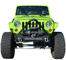 ACE ENGINEERING PRO SERIES FRONT BUMPER W/STINGER BAR 20IN DOUBLE ROW LIGHT PROVISION BLACK - JK
