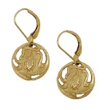 Tulip Art Nouveau Earrings