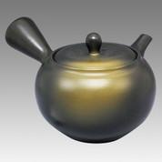 Tokoname Kyusu teapot - JINSUI - Mustard Blowing 360cc/ml - obi ami stainless steel net - Item Image