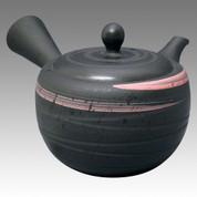 Tokoname Kyusu teapot - HAKUYO - Pink Spiral 190cc/ml - obi ami stainless steel net - Item Image