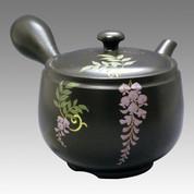 Tokoname Kyusu teapot - CHIKUSHUN - Wisteria 360cc/ml - obi ami stainless steel net - Item Image