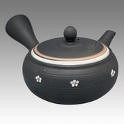 Tokoname Kyusu teapot - CHIKUSHUN - Little Plum 300cc/ml - obi ami stainless steel net - Item Image