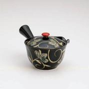 Arita-yaki Kyusu teapot - Tenmoku arabesque - 250cc/ml