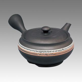 Tokoname Kyusu teapot - CHIKUSHUN - MIddle Belt 290cc/ml - obi ami stainless steel net - Item Image