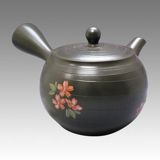 Tokoname Kyusu teapot - CHIKUSHUN - Muscle SAKURA 270cc/ml - obi ami stainless steel net - Item Image