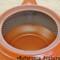 Tokoname Kyusu teapot - MORIMASA - Blue flow 300cc/ml - obi ami stainless steel net - obi ami stainless steel net