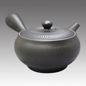 Tokoname Kyusu teapot - MORIMASA - Vermilion Line 450cc/ml - obi ami stainless steel net - Item Image