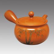 Tokoname Kyusu teapot - MAMIYA - Bamboo 330cc/ml - Refresh stainless steel net - Item Image