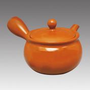 Tokoname Kyusu teapot - MAMIYA - Orange C 330cc/ml - Refresh stainless steel net - Item Image