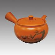 Tokoname Kyusu teapot - MAMIYA - Pine 340cc/ml - Refresh stainless steel net - Item Image