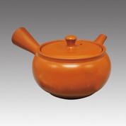 Tokoname Kyusu teapot - MAMIYA - Orange 340cc/ml - Refresh stainless steel net - Item Imge
