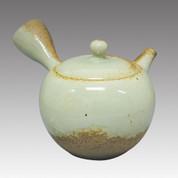 Tokoname Kyusu teapot - ISSIN - Ash glaze 330cc/ml - Refresh stainless steel net - Item Image
