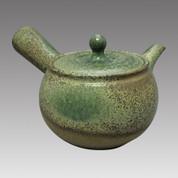 Tokoname Kyusu teapot - MAMIYA - Ash glaze 330cc/ml - Refresh stainless steel net - Item Image