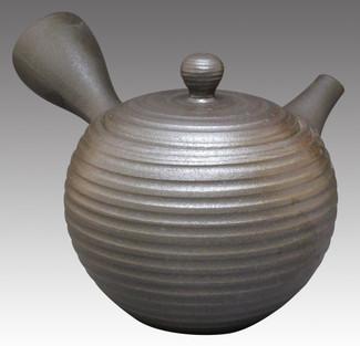 Tokoname Kyusu teapot - ISSIN - Crochet 270cc/ml - Refresh stainless steel net - Item Image