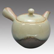 Tokoname Kyusu teapot - ISSIN - Ash glaze 360cc/ml - Refresh stainless steel net - Item Image