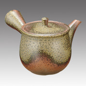 Tokoname Kyusu teapot - ISSIN - Iraq glaze 350cc/ml - Refresh stainless steel net - item Image