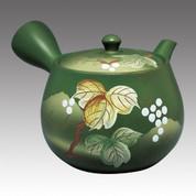 Tokoname Kyusu teapot - FUSEN - Grape 350cc/ml - Refresh stainless steel net - Item Image