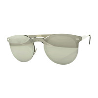 Lori Metal Mirrored Sunglass-Silver
