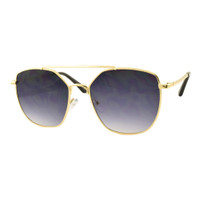 Allie Square Sunglass-Gold/Black lens