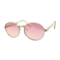 The Oval- Silver/Pink