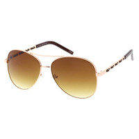 Cici Metal Aviator-Gold/Brown