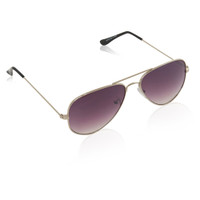 Metal Aviator With Gradient Lens-Silver/Grey