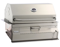 "Fire Magic Charcoal Built In Barbecue Grill with Smoker Hood (30"" x 18"")"