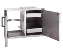 Fire Magic 20 x 30 Flush Mount Double Access Doors With Dual Drawers, Trash/Tank Tray With Louvers