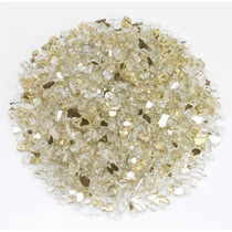 "American Fireglass 1/4"" Gold Reflective Fire Glass 10lbs"