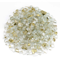 "American Fireglass 1/2"" Gold Reflective Fire Glass 10lbs"