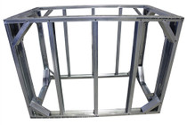 "DIY BBQ 6ft Straight Modular Frame Section 42"" Bar Height"