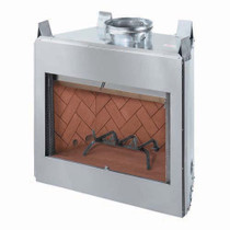 "Stainless Steel 36"" fireplace insert"