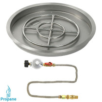 "American Fireglass 25"" Round drop-in Pan Match Lite- Propane"