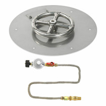 "American Fireglass 12"" Round Flat Pan with Match Lite Kit - Propane"
