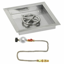 "American Fireglass 12"" Square Drop-In Pan with Match Lite Kit"