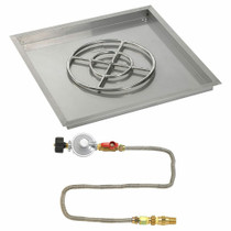 "American Fireglass 30"" Square Drop-In Pan with Match Lite Kit - Propane"