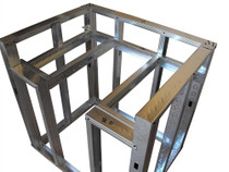 "DIYBBQ Quick Panel™ Drop-Down Burner 36"" Module Frame Section"