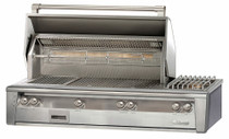 Alfresco ALXE 56-Inch Built-In Gas Deluxe Grill Rotisserie And Side Burner