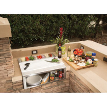 "Alfresco 30"" Pizza Prep & Garnish Rail W/ Food Pans"