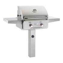 AOG 24-Inch T-Series 2-Burner Freestanding Gas Grill On In-Ground Post