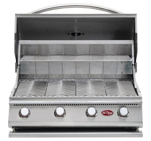 Cal Flame G4 grill hood open