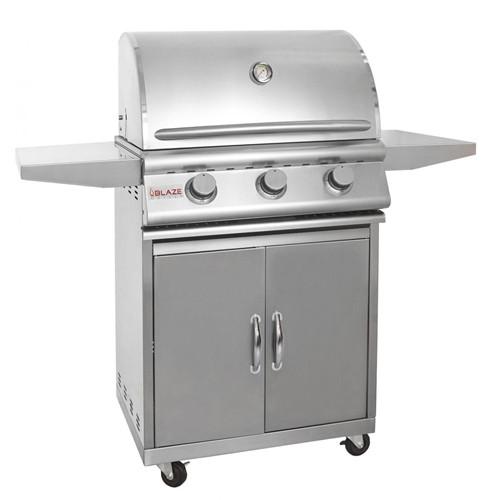 Blaze 25 Inch 3-Burner Gas Grill with Cart