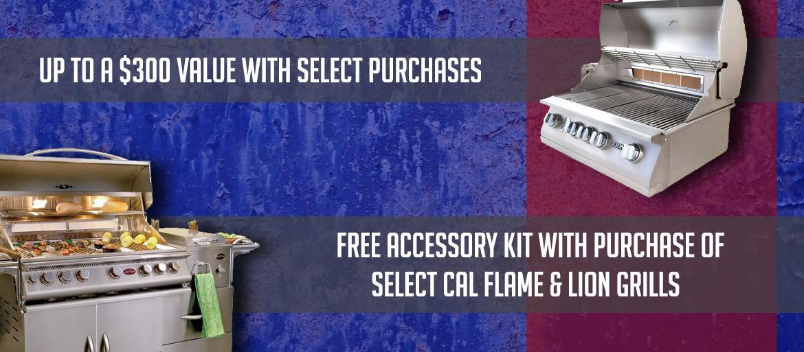 Free grilling accessory packages!