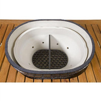 Primo Cast Iron Firebox Divider For Oval Large