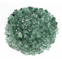 "American Fireglass 1/2"" Evergreen reflective Fire Glass 10lbs"